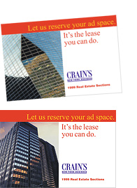 Crain's New York Business: Direct Mail & Photography